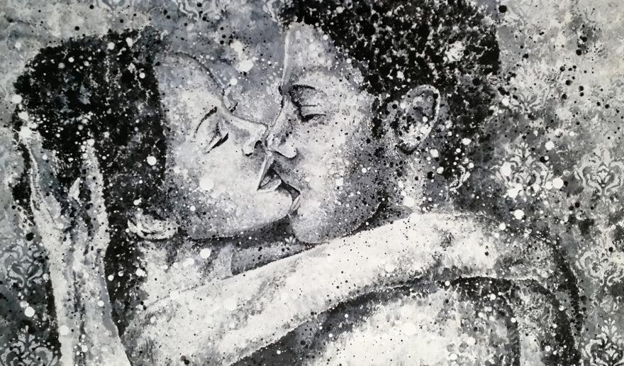 painting love couple siho-art