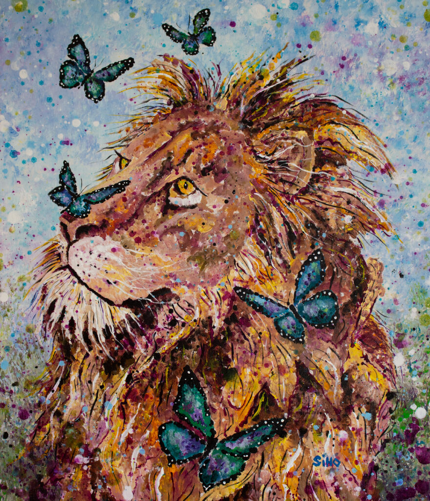 lion painting siho-art