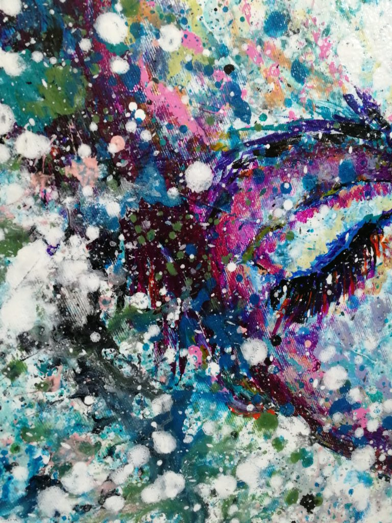 colourful abstract painting siho-art