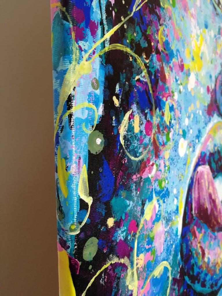 colourful acrylic painting siho-art