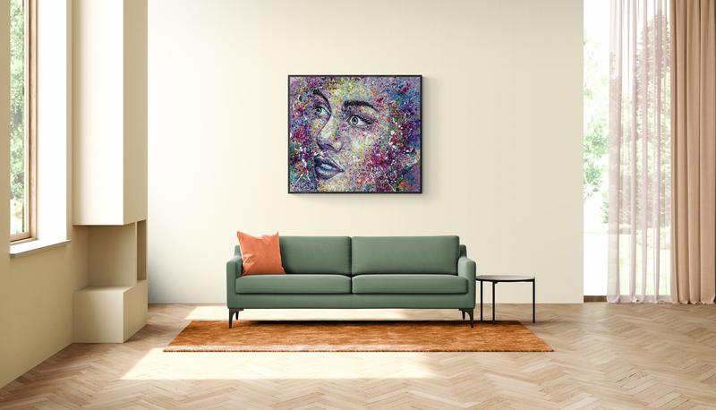 abstract acrylic painting siho-art