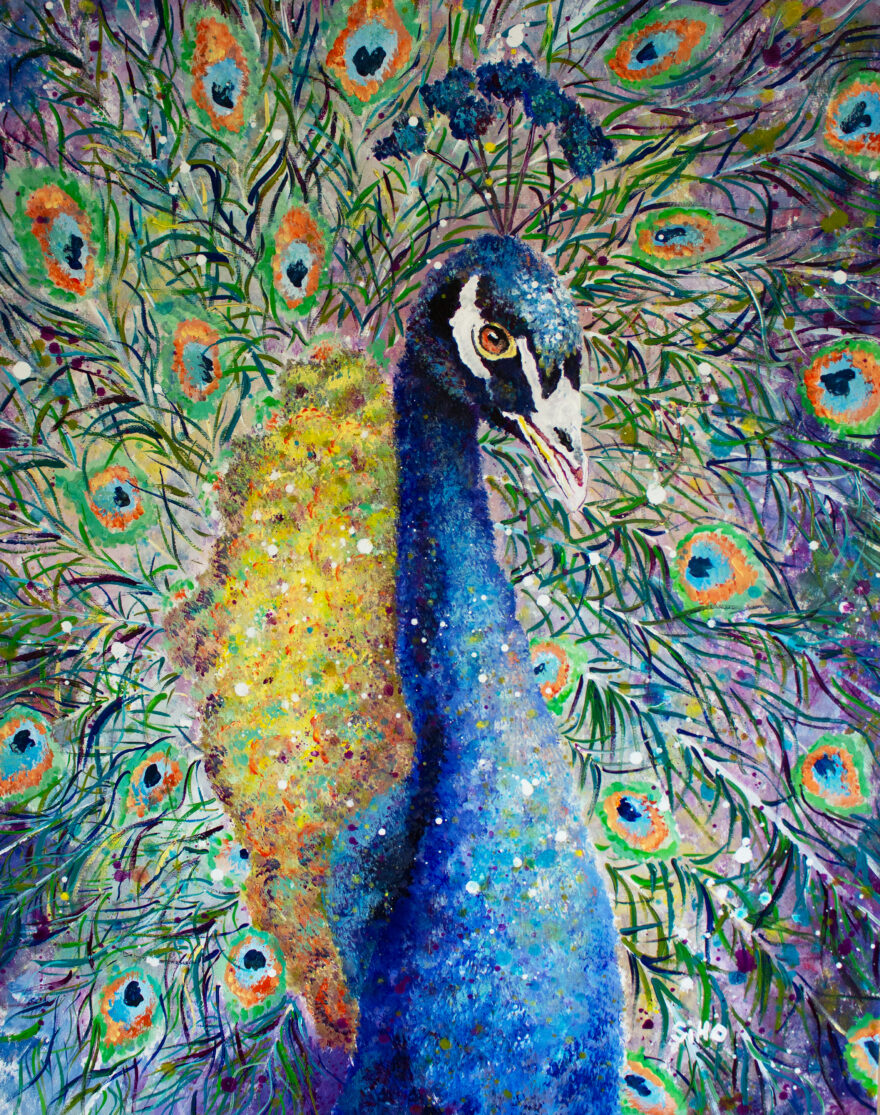 colourful animal painting siho-art
