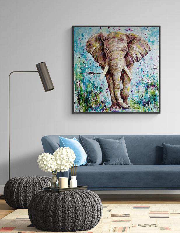 elephant painting siho-art