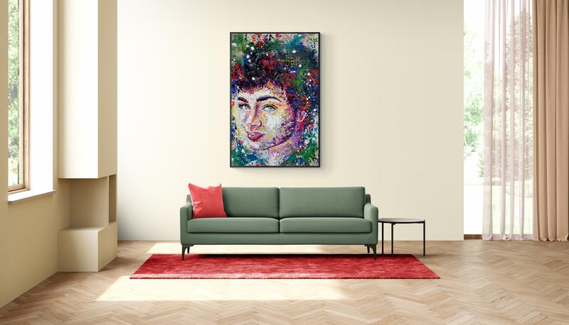colourful portrait acrylic painting siho-art