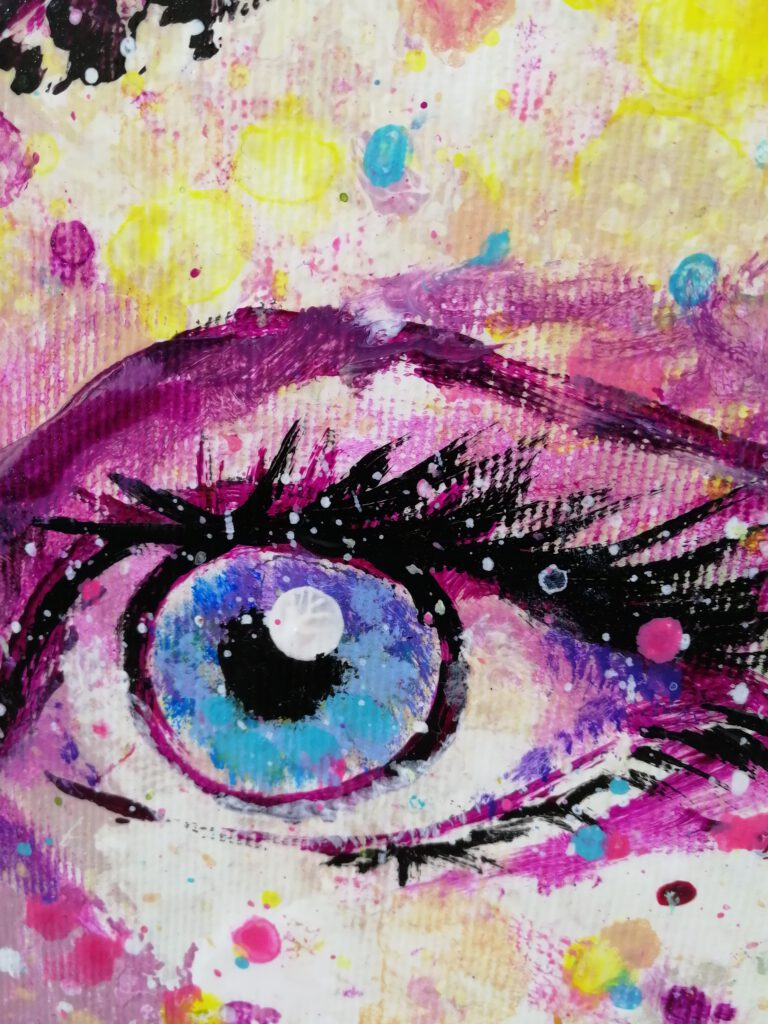 abstract portrait painting siho-art