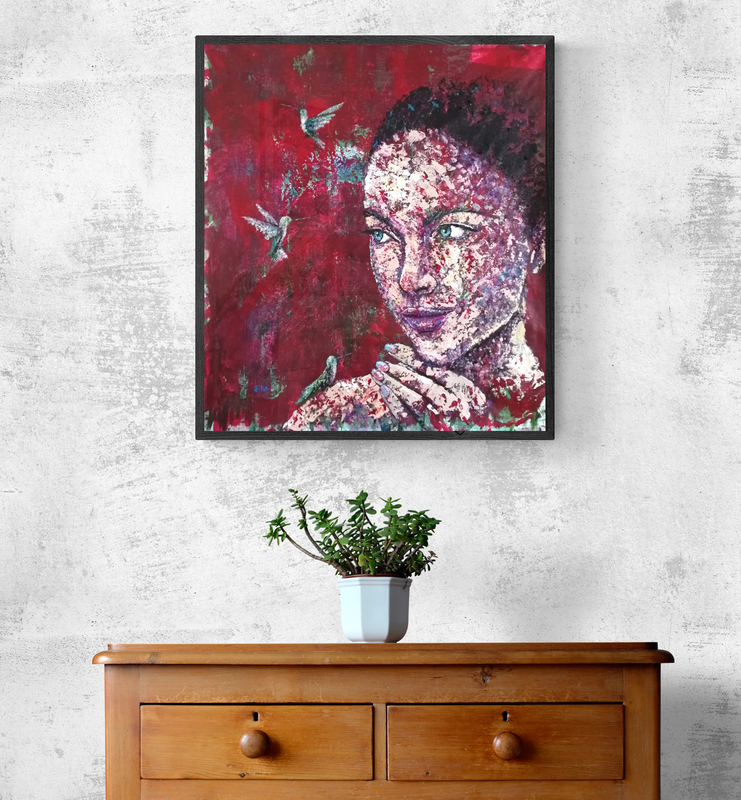 abstract portait painting siho-art
