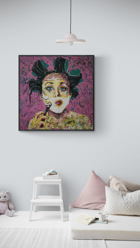 funny portrait painting siho-art