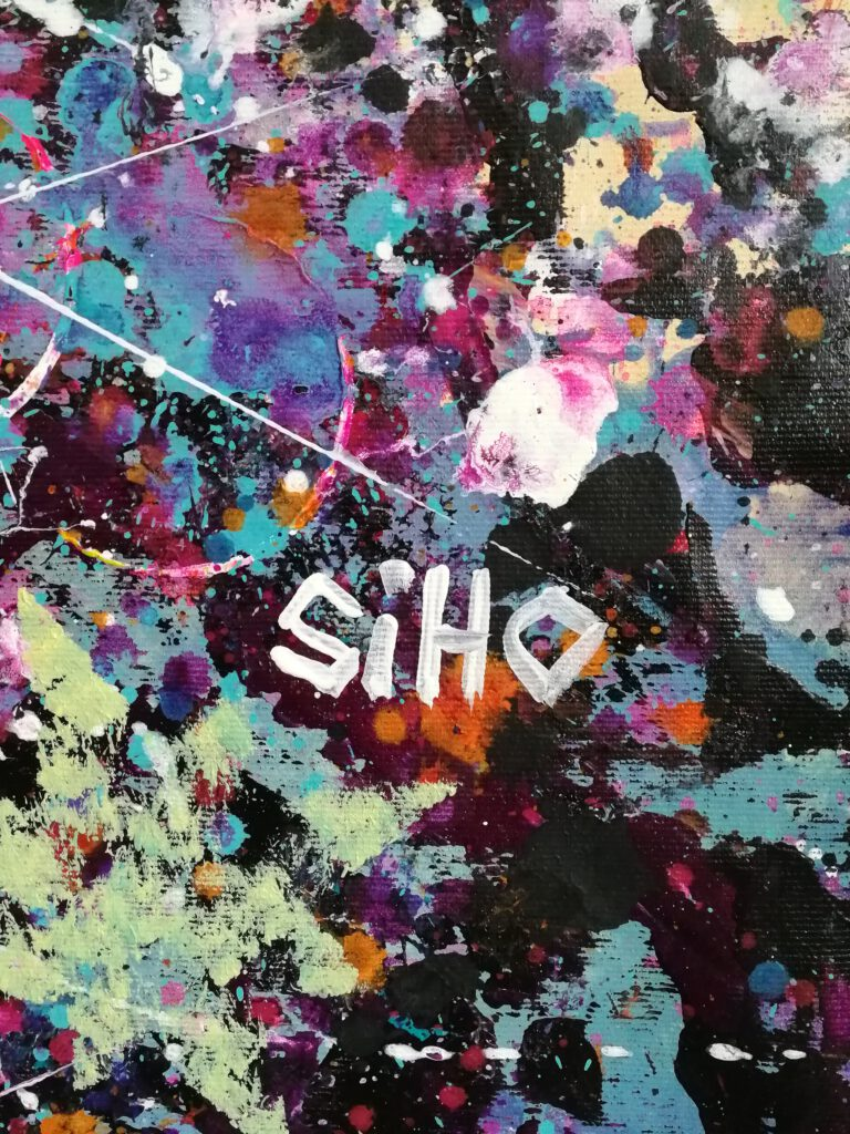 acrylic abstract portrait painting siho-art
