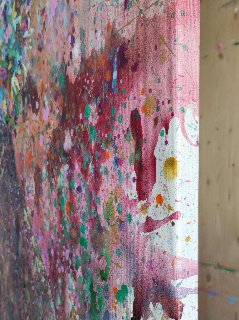 black woman abstract acrylic painting siho-art