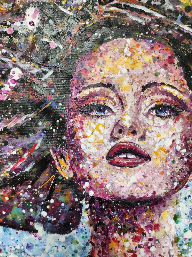 colourful abstract portrait france alsace siho-art